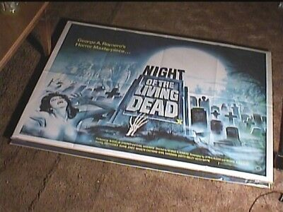 NIGHT OF LIVING DEAD R82 ORIG BRIT QUAD 30x40 MOVIE POSTER HORROR GEORGE ROMERO