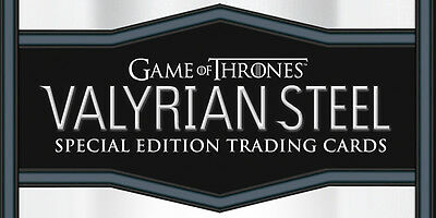 GAME OF THRONES VALYRIAN STEEL SEALED BOX OF CARDS (3 packs)