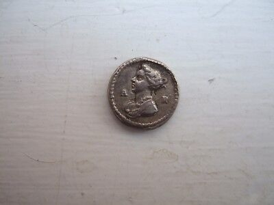 Rare Queen Anne 12mm medalet .Bust with Q & A to sides.