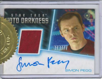 Star Trek Into Darkness Movie - Autograph Card signed by Simon Pegg INCENTIVE