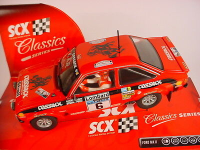 Scalextric SCX Ford Escort MkII #6 RS1800 62800 MB COSSACK RAC 1976 ROGER CLARK
