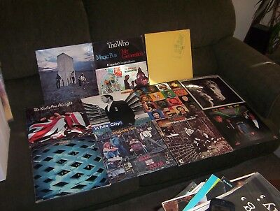 THE WHO 11 LP LOT w WHO'S NEXT, MY GENERATION, TOMMY, LIVE AT LEEDS, MAGIC BUS