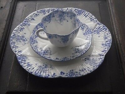 Minty Cup / Saucer Small Lunch  Plate Trio  Shelley Dainty Blue Set