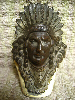 Vintage Indian Chief Brass Paper Clip And/or Paper Weight.