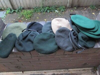 Canadian Military Assorted Berets-Different Colours-Some Marked-Unknown Era (18)
