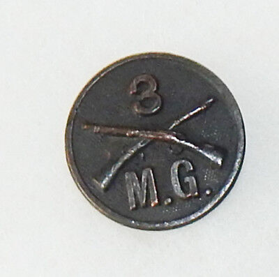 WWI 3rd Machine Gun Infantry Enlisted Collar Disc