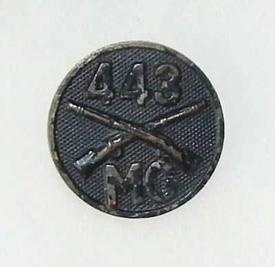 WWI 443rd Machine Gun Infantry Enlisted Collar Disc