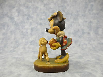 Vintage MINNIE MOUSE Limited Edition Wood Carved Anri Disney Italy Figurine