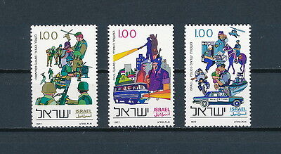 Israel  642-4 MNH, Police Force, 1977
