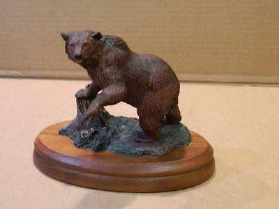 Grizzly Bear Figurine Hamilton Great Animal Collection 2ND Issue Ltd. Ed. 1983