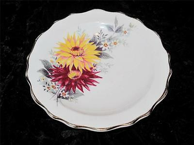 Royal Stafford Bone China Pin Dish Red & Yellow Dahlia Pattern