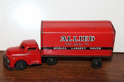 Nice 1950's Friction Powered Haji Allied Van Lines Truck