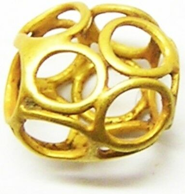 Nice Excavated Royal Saxon Gold Circlets Wirework Bead c. 6th - 8th century A.D.