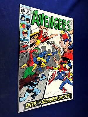 Avengers #70 (1969 Marvel) Squadron Sinister appearance Silver Age NO RESERVE