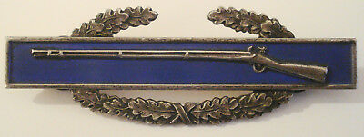 """WWII Era Sterling Silver """"CIB"""" Combat Infantry Badge Pin"""
