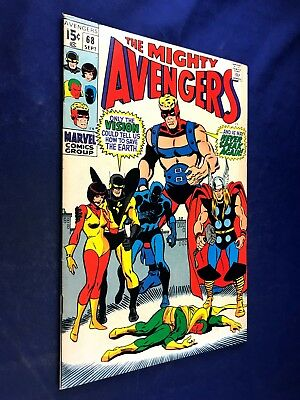 Avengers #68 (1969 Marvel) Ultron appearance Silver Age NO RESERVE