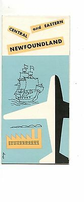 Old SIGHT SEEING CENTRAL & Eastern   NEWFOUNDLAND fold-out pamphlet 1956