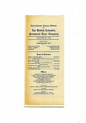Old annual report  Seventh Annual Columbia Permanent Loan Co. 1914
