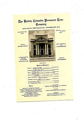 Old annual report The British Columbia Permanent Loan co. 1909