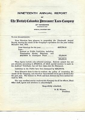 Old annual report The British Columbia Permanent Loan Company 1909 (large)
