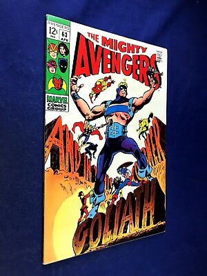 Avengers #63 (1969 Marvel) Goliath appearance Silver Age NO RESERVE