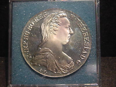 1780 Gem Proof Maria Theresa Thaler Silver Restrike Beautiful Coin Ships Free