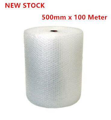 1 Roll Bubble Wrap 500mm x 100 Meter White Clear Bubblewrap Packaging Protective