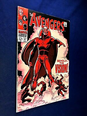 Avengers #57 (1968 Marvel) 1st appearance of the Vision Silver Age NO RESERVE