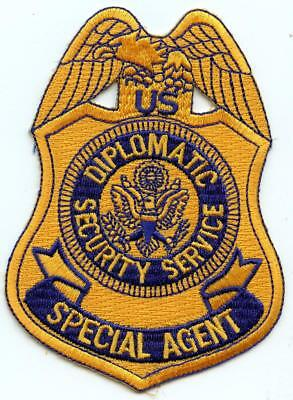 """US State Department Diplomatic Security Service Special Agent 4.5"""" Patch LEO"""