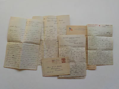 8 WWI Letters U.S.S. Mexican America Ship WW1 Correspondence Lot VTG Military