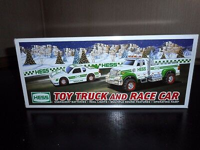 2011 Hess Toy Truck  And Race Car Never Removed