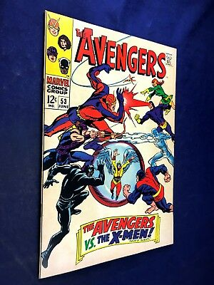Avengers #53 (1968 Marvel) X-Men appearance Silver Age NO RESERVE