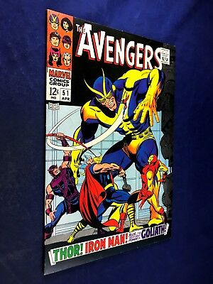 Avengers #51 (1968 Marvel) Goliath appearance Silver Age NO RESERVE