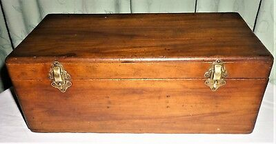 Antique C1920's-30's Stained & Polished Wooden Keepsake Box (For Refurbishment)
