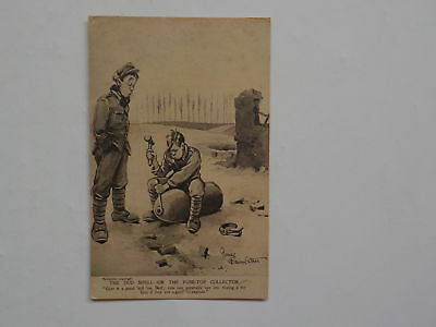 WWI Postcard The Dud Shell Or The Fuse-Top Collector WW1 Post Card Army WW I VTG