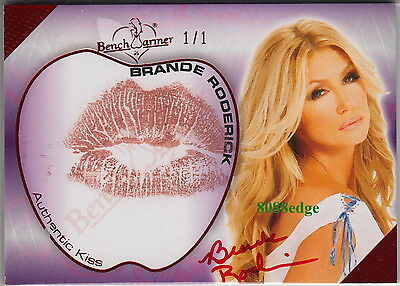 2012 Hot For Teacher Kiss Auto:brande Roderick #1/1 Of One Red Autograph Playboy