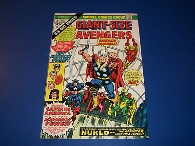 Giant Size Avengers #1 Bronze Age 2nd Invaders Wow Fine-/Fine Beauty