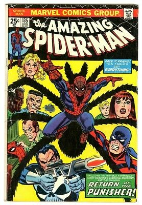 Amazing Spider-Man #135 (1974) G New Collection 2nd full Punisher appearance