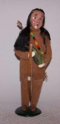 Byers Choice - Thanksgiving - Native American Man w/Bow & Arrow Holding Gourd
