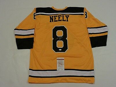 CAM NEELY autographed signed Bruins yellow Jersey JSA witness