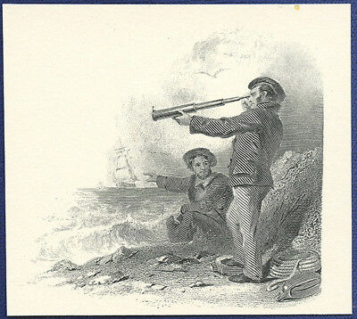 AMERICAN BANK NOTE Co. ENGRAVING: LOOKING OUT