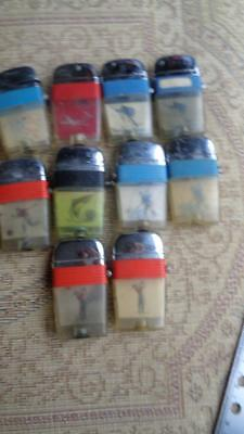 10 Scripto lighters Vintage for Parts or Rehab