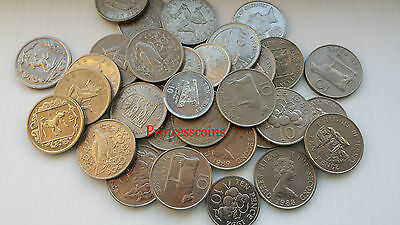 Selection Of 1968-2010 Gb Region Channel Island 10P Ten Pence Large