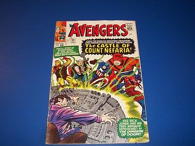 Avengers #13 Silver Age Key Issue Wow 1st Count Nefaria VG-/VG