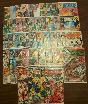 The Avengers Comic Lot of 42 Issues 161-363 + Annual 13 - Thor Hulk