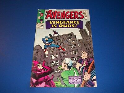 Avengers #20 Silver Age Captain America Quicksilver Scarlet Witch