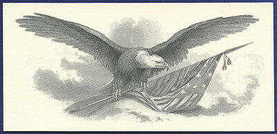 AMERICAN BANK NOTE Co. ENGRAVING: EAGLE WITH FLAG