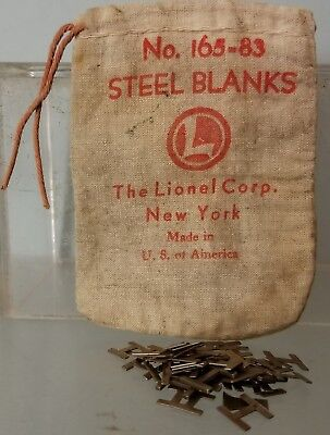 Lionel 165-83 Bag and some Steel Blanks used with 165 Magnetic Crane  Rare 1940