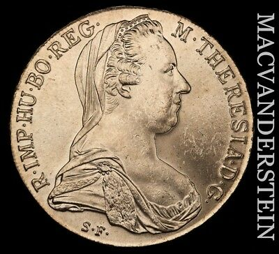 Austria: 1780 Maria Theresa Re-Strike- No Reserve !! Brilliant Unc !! #v9695