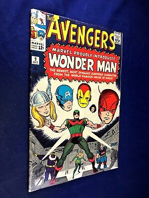 Avengers #9 (1964 Marvel) 1st appearance of Wonder Man Silver Age NO RESERVE